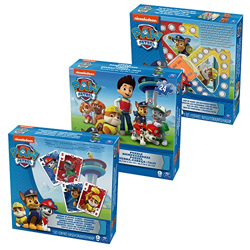Unbekannt Cardinal Games 6033299 Cardinal Games-6033299-Paw Patrol 3 Pack Games Bundle, Multicolour (Patrol Paw Spiel)