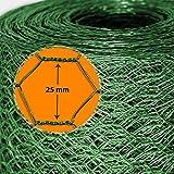 Grillage pour jardin casa pura® clôture vert | tailles au choix | diamètre de maille 25mm | résistant aux intempéries | bricolage, 50cmx25m