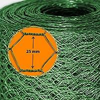 Grillage pour jardin casa pura® clôture vert | tailles au choix | diamètre de maille 25mm | résistant aux intempéries | bricolage, 100cmx10m