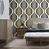 8121Silber/Gold/Beige Schwere Tapeten Textur Art für Home Accent Wand 52,8cm X 31FT