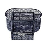 LZH Kosmetik-Box für Ordnung Organizer, Schreibtisch-Multifunktionsgerät, schwarz, Metall-Stift Halterung, Schwarz