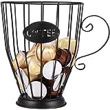 TIEMORE Panier à Capsules De Café, Organisateur De Dosettes De Café, Porte-capsules De Café Design Original, Porte-gobelet K,