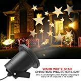 Proiettore Stelle, Dreamix 3W x 4 LED Super Bright Aggiornato Motore IP65 Impermeabile in esterno / Indoor Effetto HD Proiettore Spotlight per Natale, Party, Parete, Giardino, Decorazione