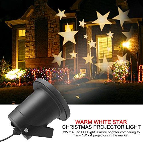 LED Projecteur Lumière II Extérieur/interieur, Dreamix 3W x 4 Mouvement Etanche IP65 étoile éclairage Lampe pour Décoration de Noël Vacances Maison Jardin Wall Barre Birthday