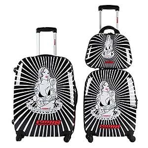 Ensemble de 2 valises + Vanity case Com 8