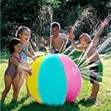 Yunt Wasser-Spray-Bälle, Freien aufblasbarer Wasserstrahl-Wasserball-Sprinkler, der Krake, Spritzen und Spray-Ball für Schwimmen-Partei-Strand-Pool-Rasen-Spiel-Spielzeug sprüht