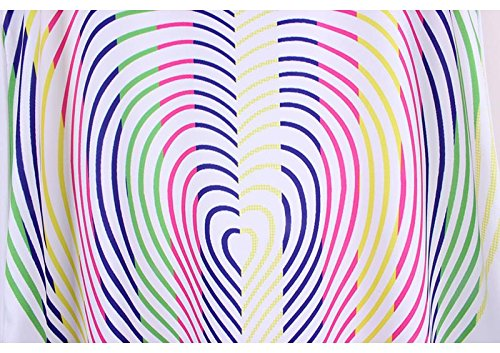 ACVIP Stampato Donna Estivo Canotte Lunghe a Girocollo,7 Colori Modello 3
