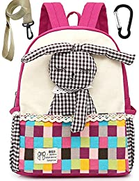 Toile Sac A Dos Enfant Fille Lapin Bambin Mignon Cartable Maternelle Garderie PréScolaire(1-3ans)