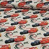 Jersey Stoff Cars hellgrau -Preis gilt für 0,5 Meter-
