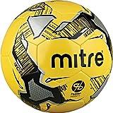 Mitre Calcio Hyperseam Fußball zum Trainieren, Unisex, Calcio Hyper Seam, Gelb/Schwarz / silberfarben