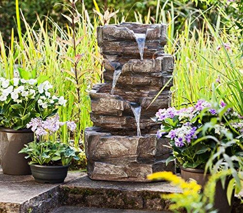 fuentes de jardin rusticas