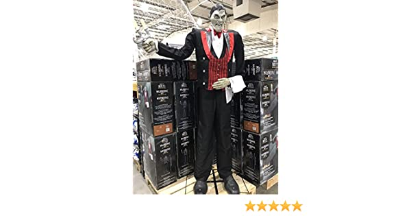 "Animated Butler of Macabre Manor with Lights /& Sounds Halloween 6ft 11/"" 211cm"
