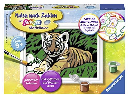 Ravensburger - Malen nach Zahlen, Süßer Tiger