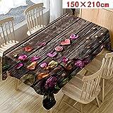 MOIKA Nappe de Table Saint Valentin Imprimé Floral Jacquard Restaurant Style Simple...