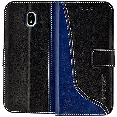 Samsung Galaxy J3 2017 DUOS ( J330FD ) Hülle Handyhülle von elephones mit UNZERBRECHLICHER SCHALE Handytasche Schutzhülle Handyschutz Wallet Case Klapp Schutz Handy Hüllen Taschen Tasche Cover (Duo Handys)