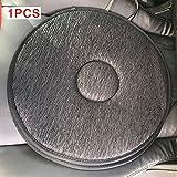 Morehappy7Schmerzlinderung Sitzkissen, tragbar Rutschfeste Kfz-Matten Sitz Matte weiche Nützliche 360Grad drehbar Schaumstoff atmungsaktiv Kissen, geeignet für Auto, Haus, Büro, dunkelgrau, 2 pcs