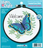 Dimensions Counted Cross Stitch Kit, Welcome Butterfly