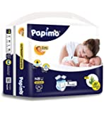 Papimo New Born Baby Diapers with Aloe Vera,86 Count