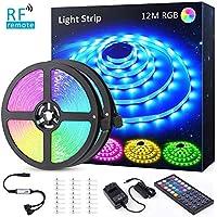 12M(6Mx2) Tira LED RGB, NOVOSTELLA Luces LED Habitacion 24V 360 LEDs Tiras Luces Adhesiva Multicolor SMD5050 con RF Control Remoto de 44 Teclas, Decoración para Hogar, Techo, Escaparate, Muebles