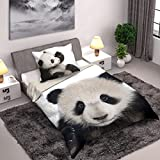 Wild Collection Panda Einzelne Duvet Set 140 x 200cm / 70 x 90cm (Panda 140 x 200)