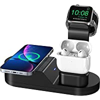 Todamay Wireless Charger,3 in 1 Kabelloses Ladegerät,Induktive ladestation für Apple Watch Airpods Pro Phone Series 12…