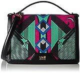 CAVALLI CLASS Small shoulder bag Crazy Print IV 001 C60PWCHR0012 Damen Schultertaschen 18x15x6 cm (B x H x T), Mehrfarbig (Fuxia/Green F61)