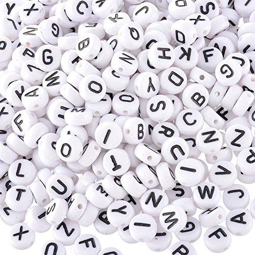 Alphabet Buchstabe Kunststoff-Acryl benediktineroblate Form Cube Perlen Schmuck Diy Bastelset