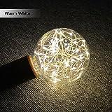 Xshuai 125mm * 100mm spezielle design Frohe Weihnachten Romantische LED Glühbirne E27 Sternen Fee String Weihnachten Party Lampe Home Decor (Gelb)