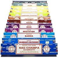 Satya Sai Baba Räucherstäbchen–Nag Champa, verschiedene Sorten, Geschenk-Set E Yoga, 12x 15g-Boxen mit Räucherstäbchen... preisvergleich bei billige-tabletten.eu