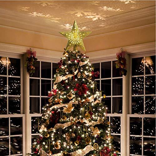 xiong963 Adornos de árbol de Navidad iluminados con proyector de ...