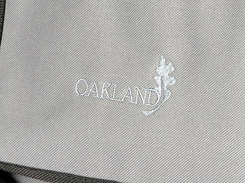 Oakland, Borsa a spalla uomo large, Nero (nero), Large Grigio