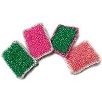 Eponge tawashi durable rectangulaire, accessoire pour la vaisselle ou le corps, lavable en machine, fait main au crochet…