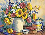 """Paint By Number Kit 14""""X11""""-Sunflower Still Life"""