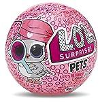 LOL Surprise Pets offers 7 layers of surprise! Includes secret message sticker, collectible sticker sheet, water bottle charm, scooper, shoes, accessory, collector poster, and LOL Surprise Pet with water surprise.
