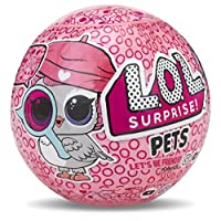 LOL Surprise Pets offers 7 layers of surprise! Includes secret message sticker, collectible sticker sheet, water bottle charm, scooper, shoes, accessory, collector poster, and LOL Surprise Pet with water surprise.