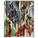 """Personalized Custom Fashion Liga de la justicia Comics superhéroes cortina de ducha baño decoración impermeable moho cortinas de ducha de tela de poliéster 60""""x 72pulgadas"""