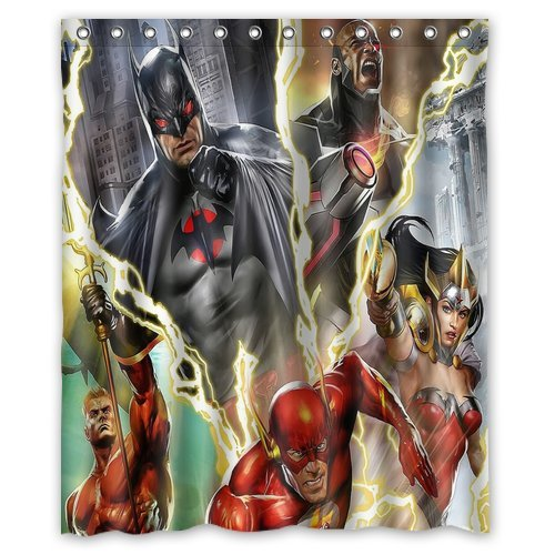 Personalized Custom Fashion Justice League Superheroes Comics Shower Curtain Bathroom Decoration Mildew Waterproof Polyester Fabric Curtains 60 X