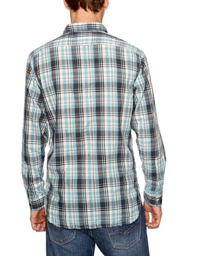Replay Herren Freizeithemd, kariert M4764 .000.50912 Mehrfarbig (azure/butter white/dark grey)