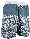 GUGGEN MOUNTAIN Maillot de bain pour homme beach shorts boxer trunks plage ete rayure motif *
