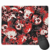 Halloween Inferno Red Gaming Mouse Pad Mousepad Non-Slip Rubber Mouse Mat Rectangle Mouse Pads for Desk Laptop Office Work