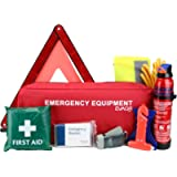EVAQ8 Advanced Car Safety Kit with Extinguisher and Torch UK Standard Parts