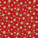 Fabulous Fabrics Baumwollstoff Weihnachten Goldsterne –
