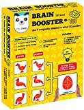 #10: Brain Booster (56 puzzles designed to boost intelligence)(magnetic shapes + magnetic board + puzzle book + solution book included)