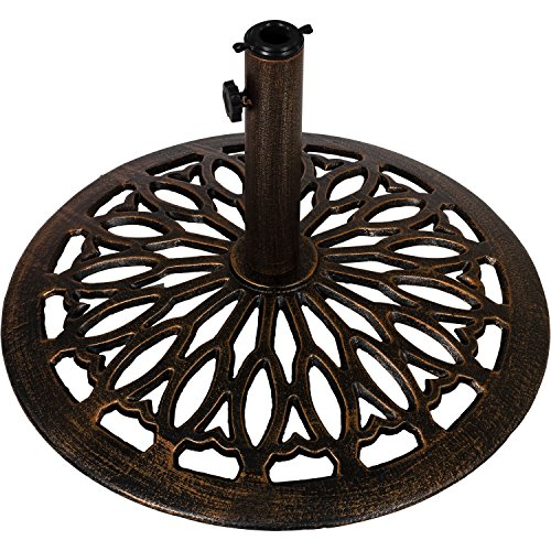 Sonnenschirmständer aus Gusseisen, 15kg, Farbe: bronze