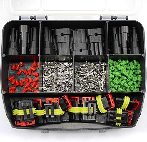 SET 10 AMP Superseal Set 1.5 0,35 0,50 0,75 1,50 2,5 1-polig 2-polig 3-polig 4-polig 5-polig 6-polig Sortiment Box Kasten Steckverbinder Elektrik KFZ (SET 10)