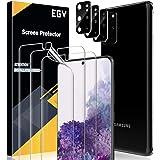 EGV Compatibile con Samsung Galaxy S20 Plus Protector de Pantalla,3 Pack Protector Pantalla e 3 Pack Protector de Lente de Cá