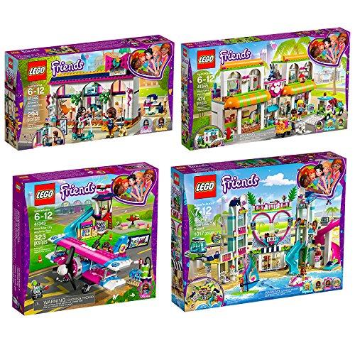 Lego Friends 4er Set 41343 41344 41345 41347 Rundflug über Heartlake City + Andreas Accessoire-Laden + Haustierzentrum + Heartlake City Resort
