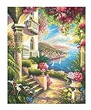 Schipper 609130416 - Malen nach Zahlen - Palazzo mit Meeresblick, 40x50 cm