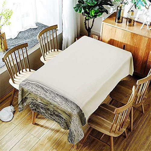 QWEASDZX Tischdecke Polyester Digitaldruck Ölbeständig und wasserdicht Küchentischdecke Waschbare...