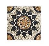 RO-001 90 x 90 cm Marmor Rosone mediterran Einleger Mosaikfliesen Bild Dekoration Stein-Mosaik Fliesen Lager Verkauf Herne NRW